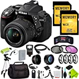 Nikon D5300 DSLR Digital Camera (Body Only, Black) with Nikon 18-55mm f/3.5-5.6G Lens Beginner Bundle