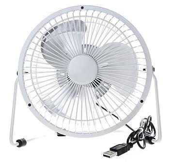 USB Mini Desk Fan Quiet Desktop Fan Electric Fans 4 Inch 360° Rotation  Portable Cooling