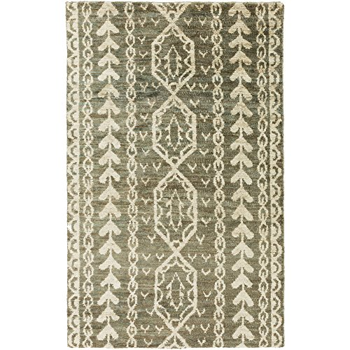 Surya BJR1002-23 Hand Knotted 100-Percent Hemp Natural Fiber Accent Rug, 2-Feet by 3-Feet ()