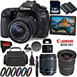 Canon EOS 80D DSLR Camera + 18-55mm Lens + Canon EF 17-40mm f/4L USM Lens + 128GB Memory Card International Version