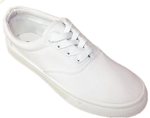 ec80fc38b17c Men Canvas Slip on & Lace Tennis Loafer School Shoes New Va