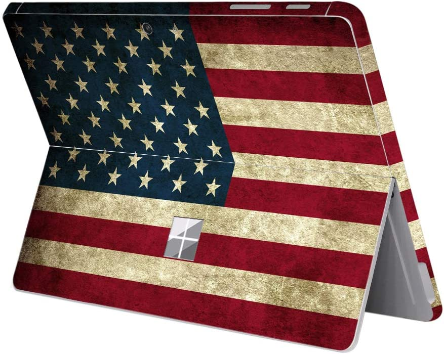 """MasiBloom Protective Decal Sticker for 10"""" Microsoft Surface Go Tablet (2018 Released) Anti-Scratch Vinyl Laptop Cover Skin (for 10"""" Surface Go, Flag- USA)"""