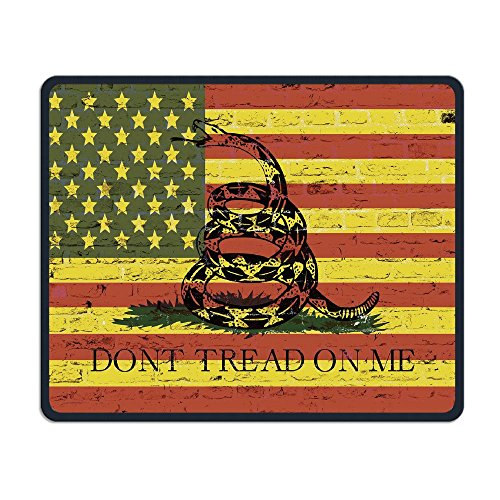 Mouse Pad American Flag Don't Tread Snake Rectangle Non-Slip 9.8in11.8 in Unique Designs Gaming Rubber Mousepad Stitched Edges Mouse Mat