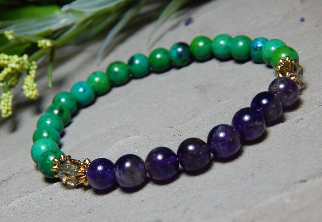 Amazon.com: Spiritual Awareness Gemstone Bracelet Harmony ...