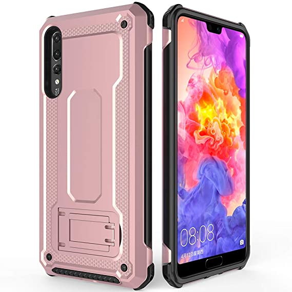new concept d41c6 f4f59 anccer Huawei P20 Pro Case, Case for Huawei P20 Pro,Anti Fingerprint Anti  Shock Dual Layer Full Body Protective Slim Armor Case for P20 Pro (Rose ...