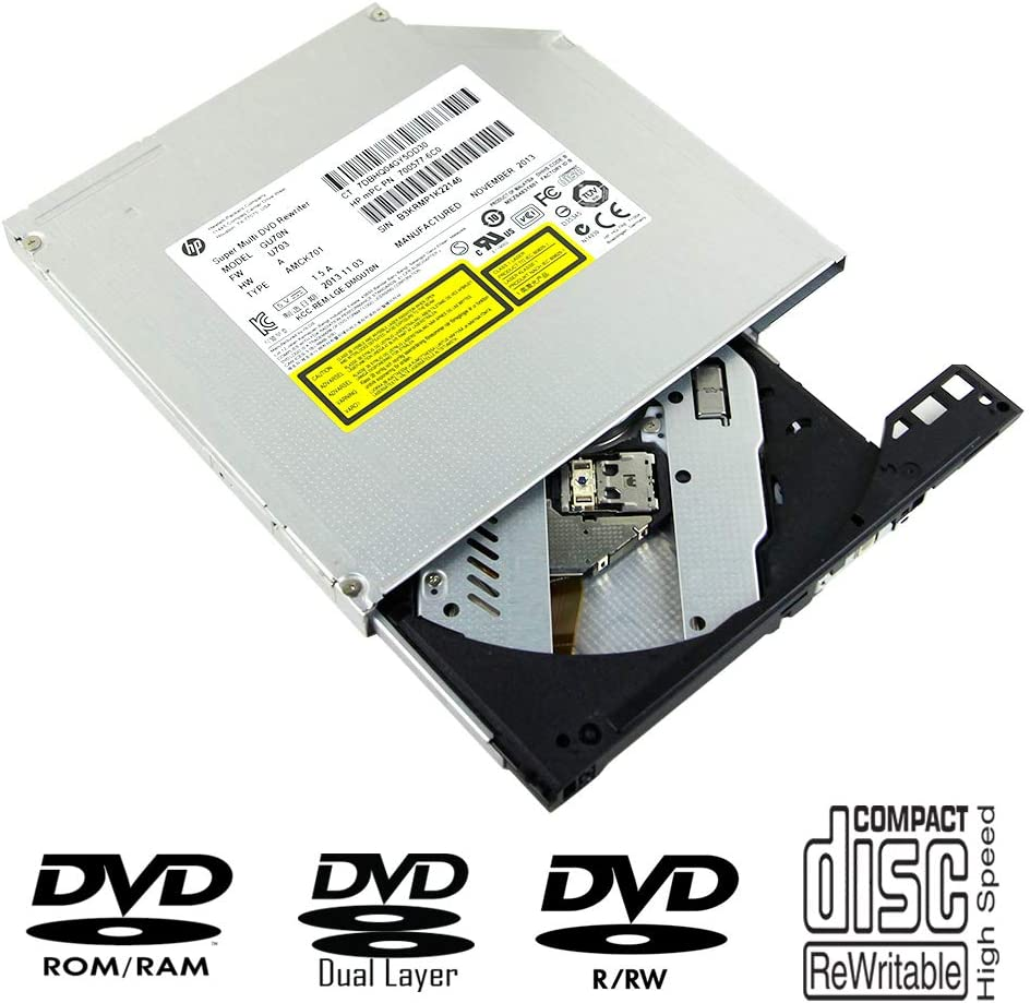 Laptop Internal CD DVD Player Optical Drive Replacement, for HP Pavilion 15-e052sg 15-n005sg dm4-3090se Asus VivoBook S551 S551LA S551LB-CJ026H Notebook, Super Multi 8X DVD+-RW DL 24X CD-RW Burner