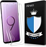 Alinsea Galaxy S9 Screen Protector [2-Pack] [NOT for S9+] [Bubble Free] [Case-Friendly] [Wet Applied] Plastic Film [NOT Glass] [No Lifting on Edges] [Touch sensitive] for Samsung Galaxy S9