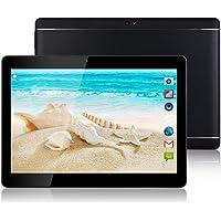 """Tablet Android - Schermo da 10"""", Octa-Core, RAM 4 GB, ROM 32 GB, Fotocamera, WIFI, GPS, Due slot per schede SIM, Tablet Cellulare con 3G sbloccato (Nero)"""