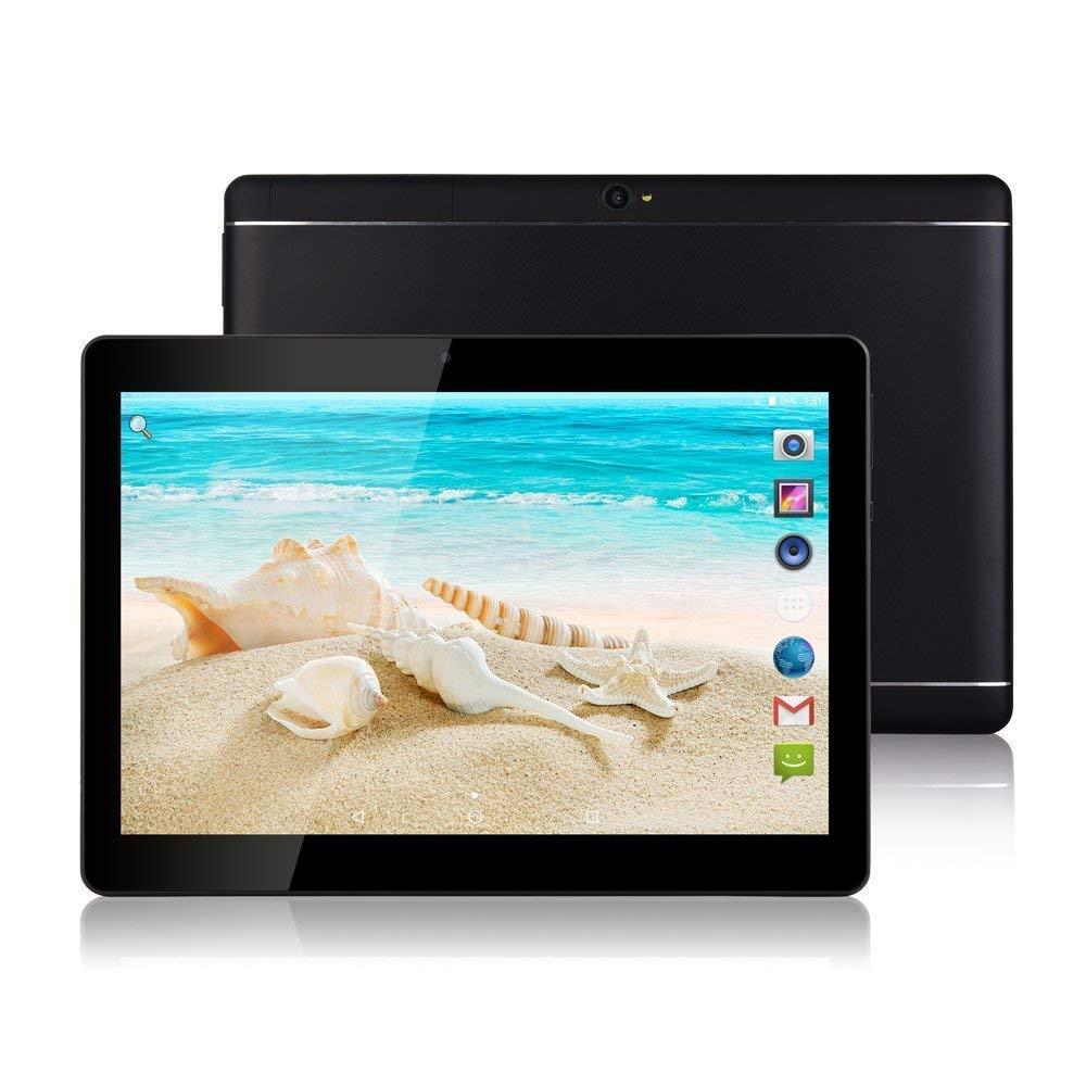 Tablet Android - Schermo da 10', Octa-Core, RAM 4 GB, ROM 32 GB, Fotocamera, WIFI, GPS, Due slot per schede SIM, Tablet Cellulare con 3G sbloccato (Nero) PENG