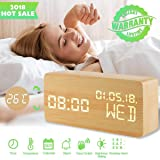 Alarm Clock,Wood Alarm Clock Voice Command