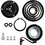 JEOBEST A//C Compressor Clutch Pulley With Bearing Coil Plate For 08-13 Nissan Rouge 2.5L