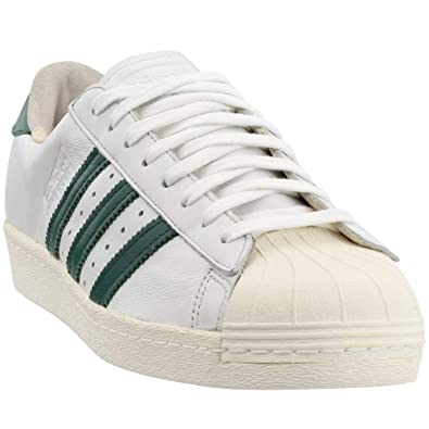 low priced ebc90 5ce21 adidas Superstar 80s Recon Men s Shoes Crystal White Collegiate Green  b41719 (7 D(