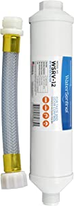 WaterSentinel WSRV-12 Premium 2-Stage RV Inline Water Filter, with Garden Hose Connection, 1 Pack with Hose Ext