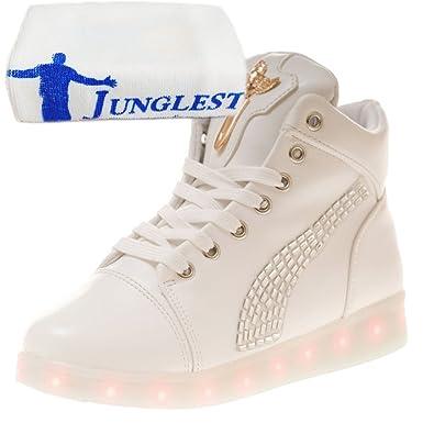 [Presente:pequeña toalla]Blanco EU 41, Adultos transpirable roja Adolescentes y los para luz zapatillas primavera del manera la arriba de para zapatos al