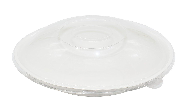 Cajas de almuerzo con tapa de fibra de paja de trigo 100% natural, 50 unidades, biodegradables, desechables, biodegradables, ovaladas