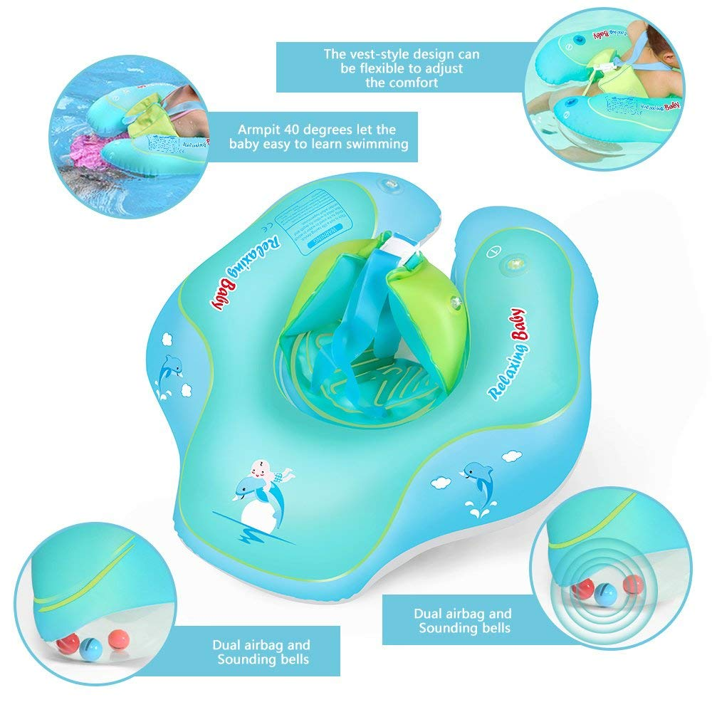 aPerfectLife Inflatable Baby Swimming Float Ring Spring Floats Swim Trainer Newborn Baby Kid Toddler Summer Outdoor Beach Water Bath Toy Swimming Pool Accessories Suitable for The Age of 6-36 Months by aPerfectLife (Image #3)