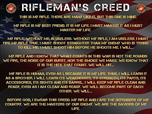 Marines Rifleman's Creed Poster Usmc Military Gift