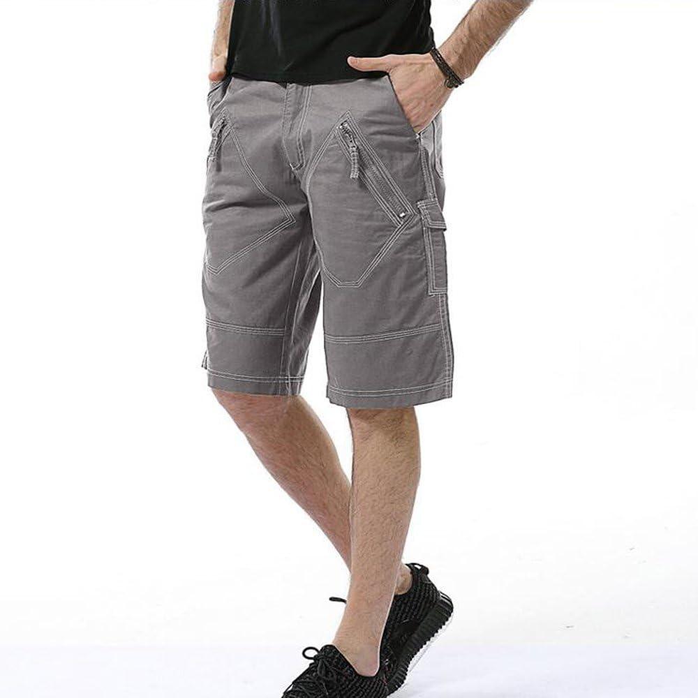 Cargo Shorts Men Big Tall-Light gray-34 Hakjay Mens Cargo Short Pants