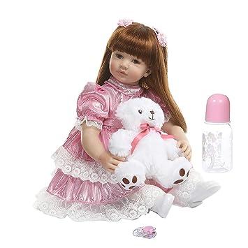Baby Toys - Muñeca de 60 cm realista de vinilo de silicona ...