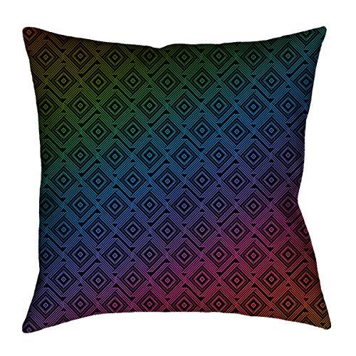 Amazon.com: ArtVerse Katelyn Elizabeth Rainbow Square Maze ...