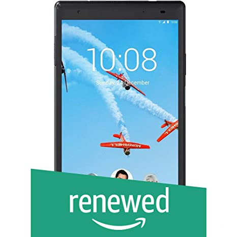 (Renewed) Lenovo Tab4 8 Plus Tablet (8 inch, 64GB, Wi-Fi + 4G LTE + Voice Calling), Aurora Black Tablets at amazon