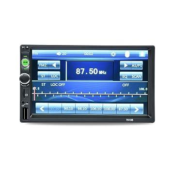 7010B Pantalla táctil estéreo con Bluetooth para coche reproductor de audio y vídeo MP3 MP5 Manos