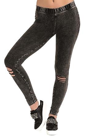 2440080514 trueprodigy Casuale Donna Leggings Stretch, Abbigliamento Urban Moda Sexy ( Pantaloni & Slim Fit Classic