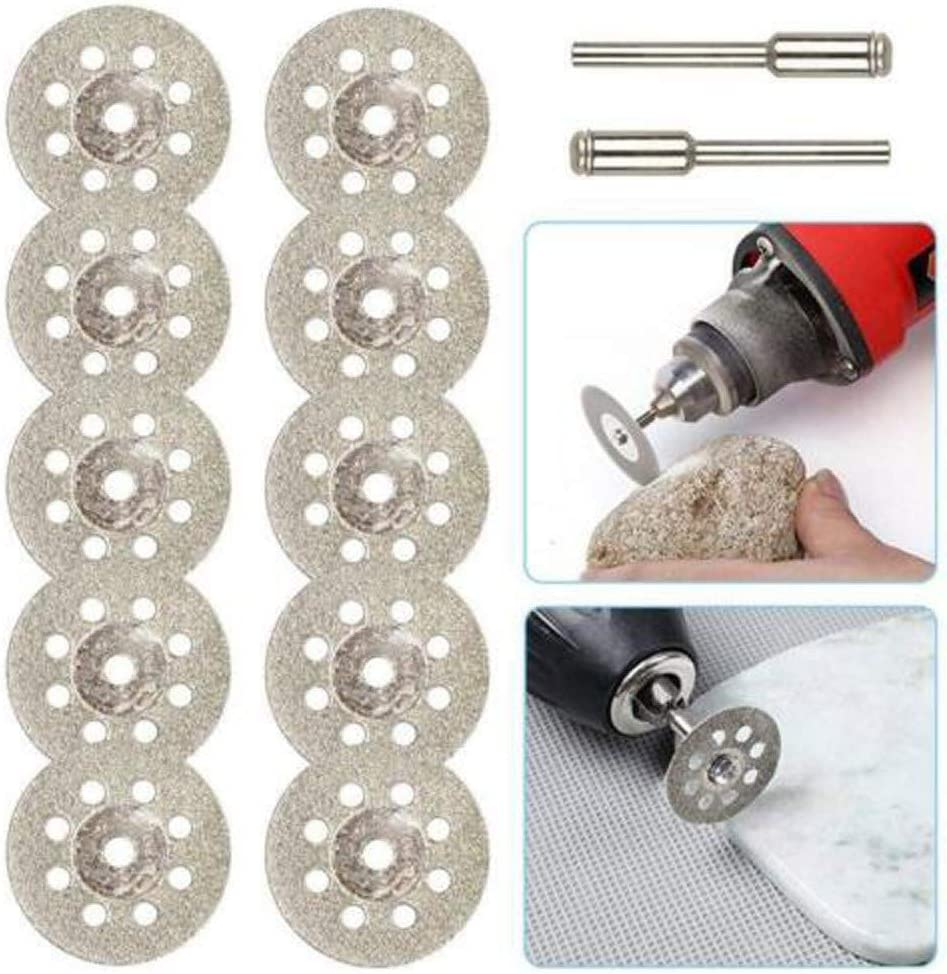 Koojawind Dischi da Taglio Diamantati Mini 10 Pezzi Dischi per Taglio Vetro E Alberi Pergolato