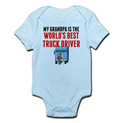 51d4e63f Amazon.com: CafePress My Grandpa is The Worlds Best Truck Baby Bodysuit:  Clothing