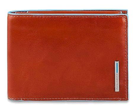 ac95f88efe Piquadro Blue Square portafoglio da uomo con portamonete - PU1392B2  (Arancione)