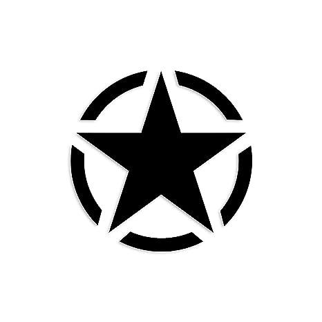 Easydruck24de 1 Sticker Army Stern Schwarz I Kfz 381 I Ø 5 Cm I Auto Aufkleber Kfz Laptop Handy Usa Us Militär Military Star Car Hot Rod Gewerbe Industrie Wissenschaft