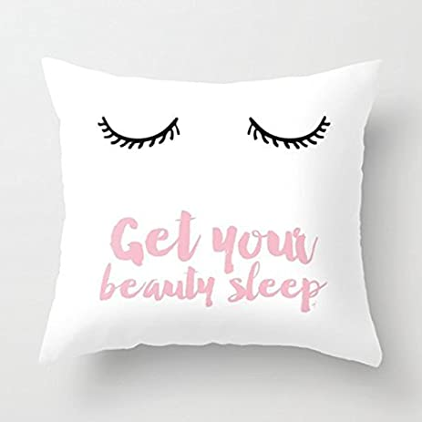Generic Beauty Sleep Pink Throw Pillow Cover Decorative Accent Pillows 18 X  18 For Girls Valentine