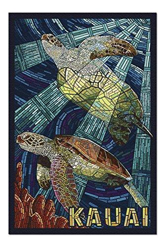 - Kauai, Hawaii - Sea Turtle Mosaic (20x30 Premium 1000 Piece Jigsaw Puzzle, Made in USA!)
