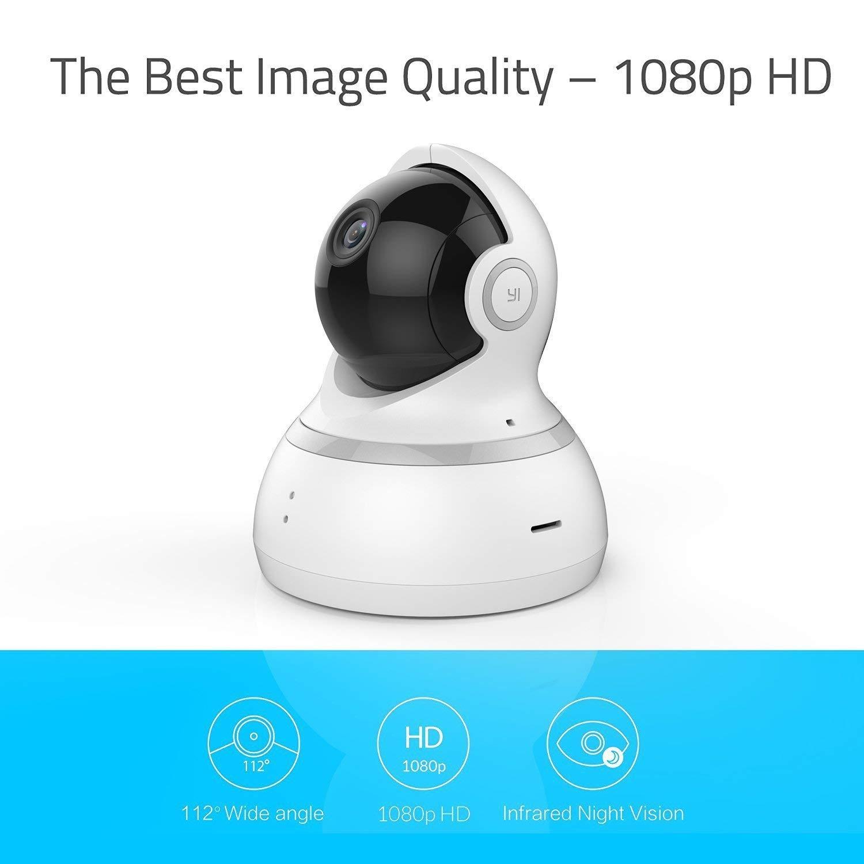 Bianca YI Telecamera di Sorveglianza 1080p IP Camera Videocamera WiFi 360/° con Sensore Movimento Visione Notturna per iOS//Android