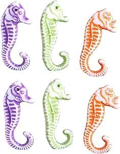 SUPVOX 20Pcs Resin Seahorse Miniature Sea Animals Fairy Garden Figurine Aquarium Fish Tank Micro Landscape Decorations (Random Color)