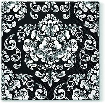 Nahtlose Schwarz Weiss Muster Leinwandbilder
