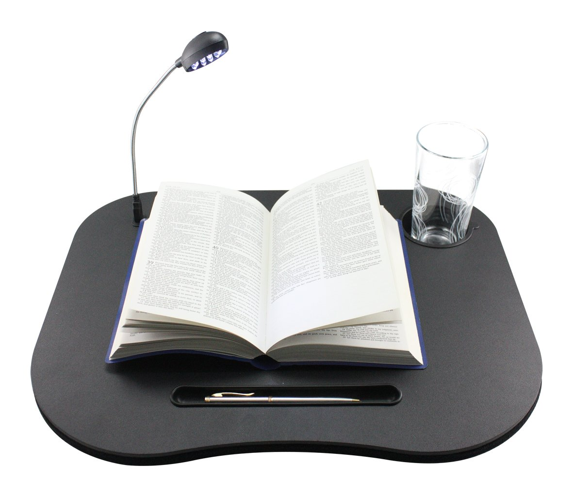 Lap Desk / Laptop Desk with USB socket, LED Light, cup holder, pen holder and comfortable cusion. Laptop tray, Laptop cushion, Laptop table, Laptop stand, Laptop tray Select Select LAP1