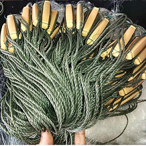 BYWWANG strong line H1.5m*L50m 3layer 4cm mesh sea fish net fishing network friends fishing net//sink fishing net gill net tool