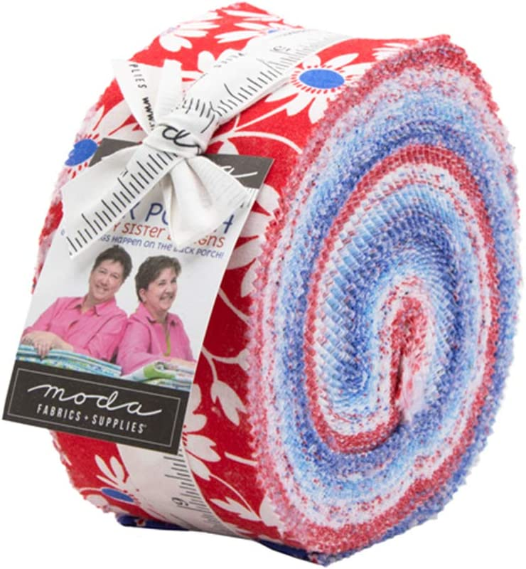 Me and My Sister Designs Back Porch Jelly Roll 40 2.5-inch Strips Moda Fabrics 22390JR