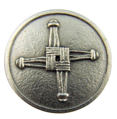 Irish Catholic Brigids Cross with St Saint Blessing Pocket Token ()