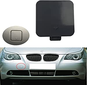 Free2choose Front Bumper Tow Hook Cover Cap for E60 E61 525i 528i 530i 530xi 540i 2004-2007