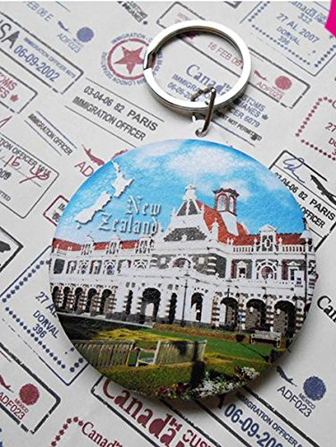 New Zealand tourism souvenir gifts mirror key chain Dan nitin railway station Fold skin surface