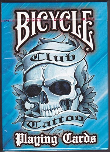 Bicycle Club Tattoo Playing Cards (Blue) (Tattoo Playing Cards)