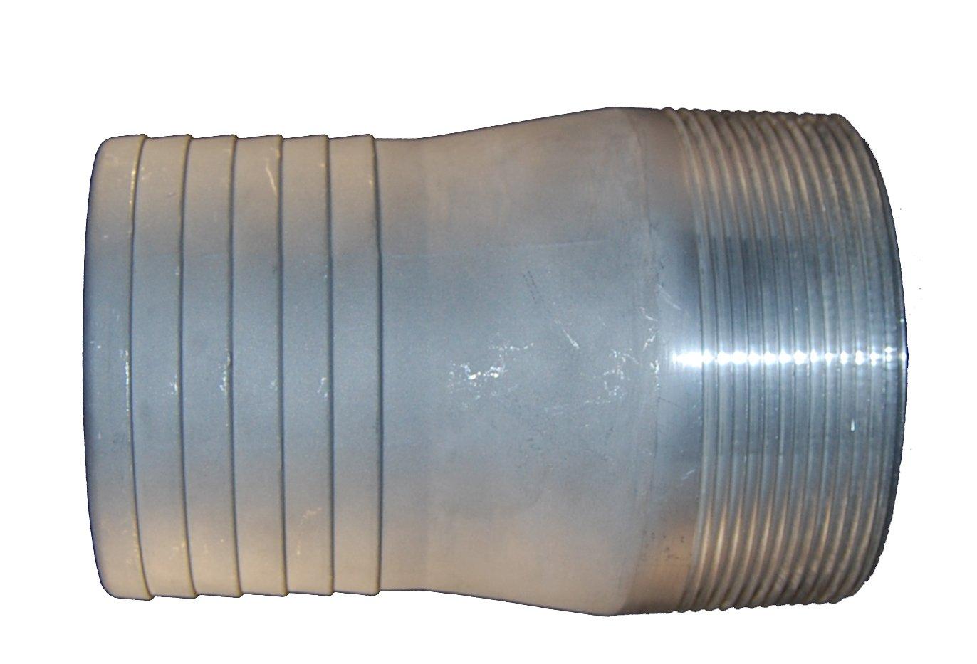 PT Coupling PTCN Series Plain Steel Fitting 4 Hose Shank x NPT Male 4 Hose Shank x NPT Male Combination Nipple