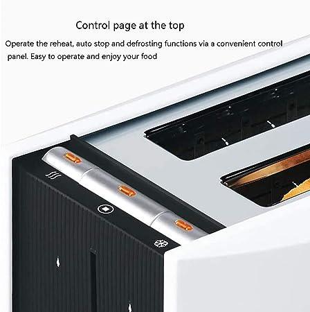 SWEET 2 Rebanada Tostador Tostador Ajustes De Color Diseño De Pan De Horno Doble, Descongelación/Calor/Cancelar La Función De Acero Inoxidable Extraíble Cáscara: Amazon.es: Deportes y aire libre