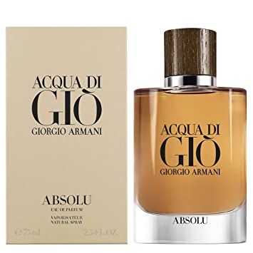 aaa13ad2a55f Amazon.com   Armani Acqua Di Gio Absolu Eau De Parfum Spray 75ml 2.5 Ounce    Beauty