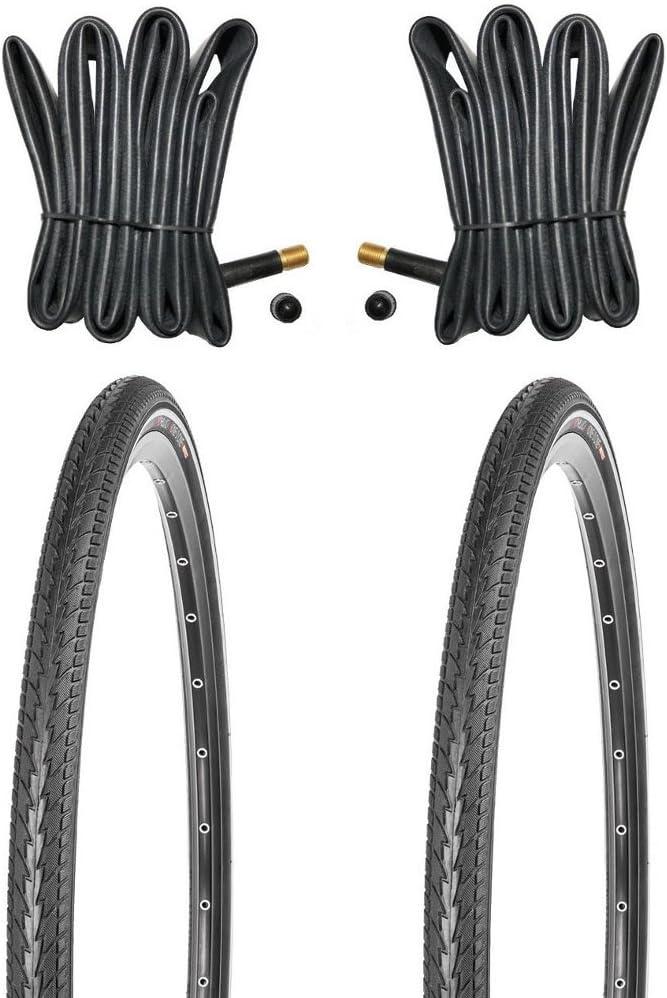 28 Zoll Kujo 700x40C Reifen Set mit Schläuchen mit Autoventilen 42-622