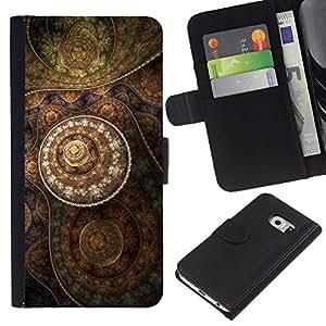 All Phone Most Case / Oferta Especial Cáscara Funda de cuero Monedero Cubierta de proteccion Caso / Wallet Case for Samsung Galaxy S6 EDGE // Wallpaper Drawing Pattern Art Structure