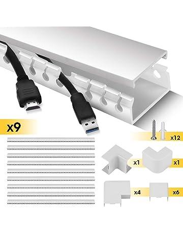 Kabel kanal Pro Weiß TV Kabelleiste Weiß Boden PVC Selbstklebend Schraubbar
