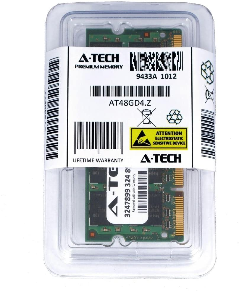 A-Tech 1GB DDR2 533MHz PC2-4200 200-pin SODIMM Laptop Notebook Computer Memory RAM Module